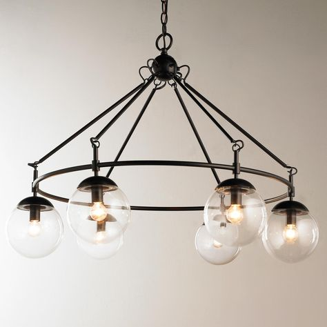For safety, make sure that your chandelier has ample vertical clearance