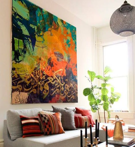 Decide on what focal point to highlight in your living room