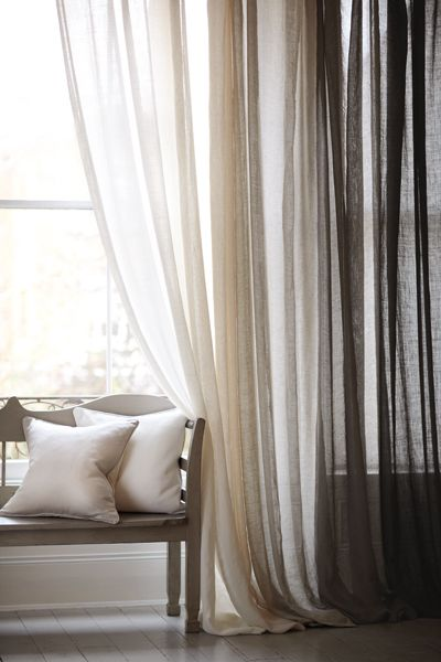 Curtains also add to the ambience of your living room
