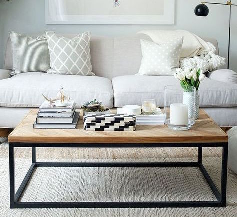 Your coffee table should be proportional in size to your sofa