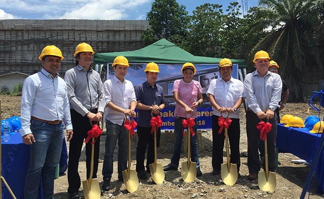 The groundbreaking of the new NCCC mall along Tigatto-Mandug Road last September. Photo from Sun Star Davao